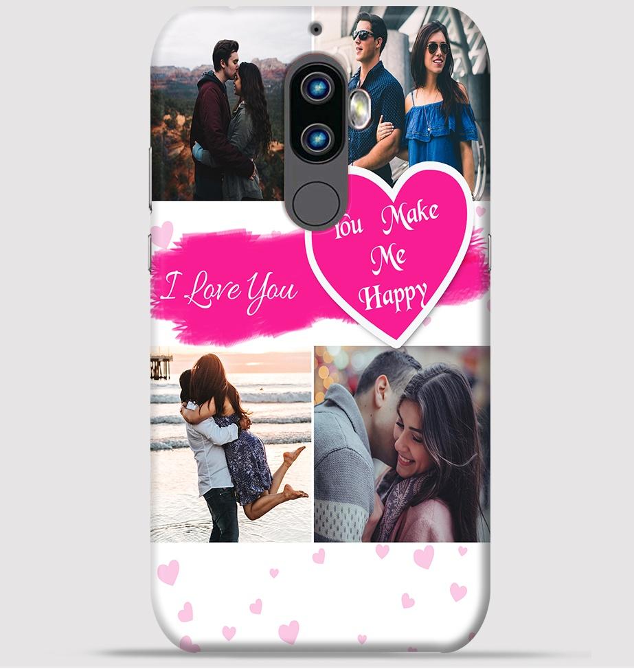 Lenovo K8 Plus Mobile Cover - Lovely couple collage theme
