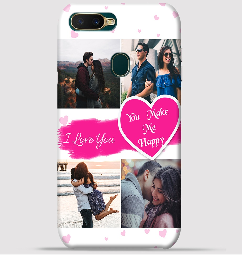 outlet store 48b15 7a611 Couple Collage maker design for Oppo A7 back cover -Greetstore