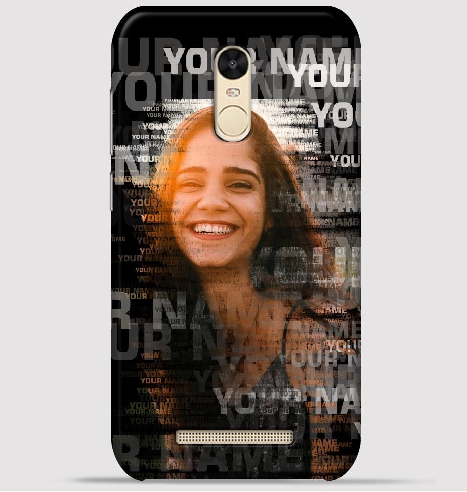 Xiaomi redmi Note 3 Mobile Cover - Text Portrait theme Cover