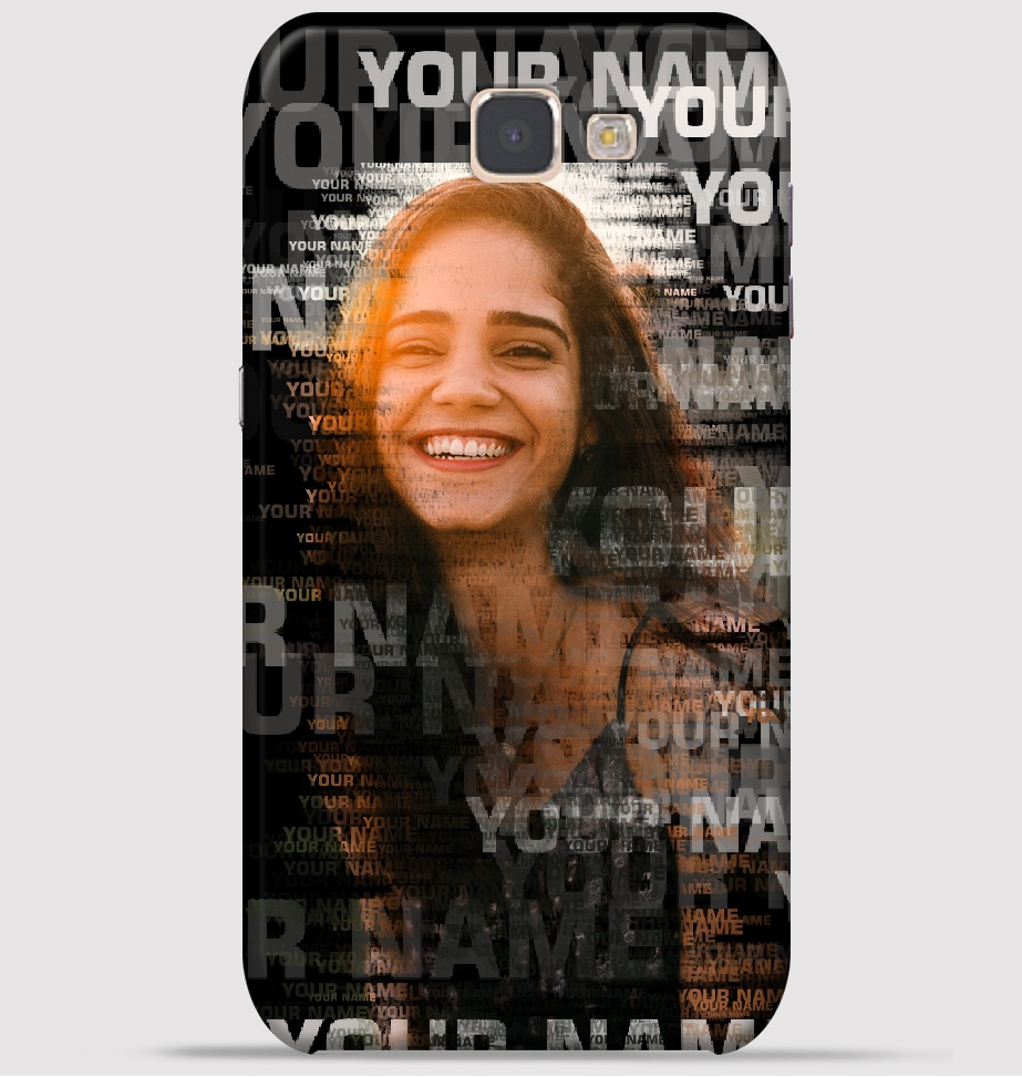 Samsung J7 Prime Mobile Cover - Text Portrait theme Cover at