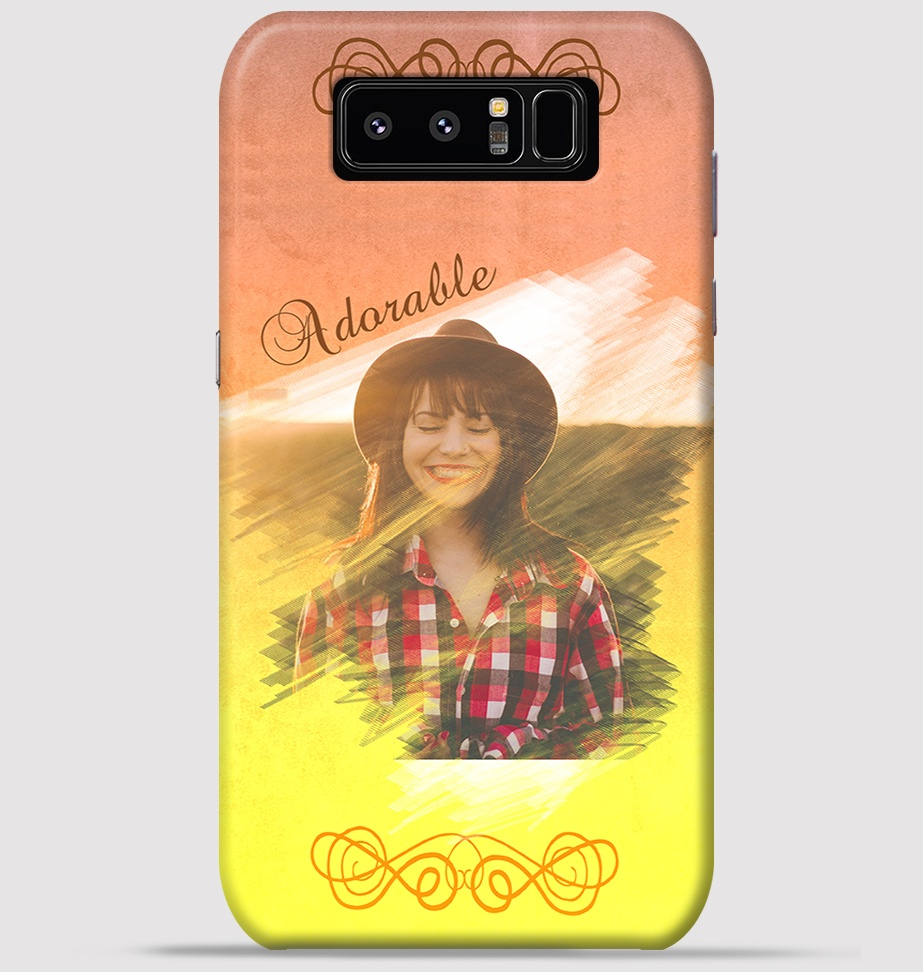 Samsung note 8 Mobile Cover - Water Colour theme Cover at