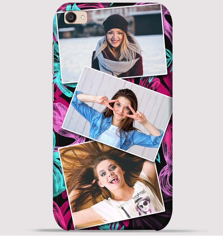 Vivo V5s Mobile Cover - Trio Girlfriends Collage theme Cover