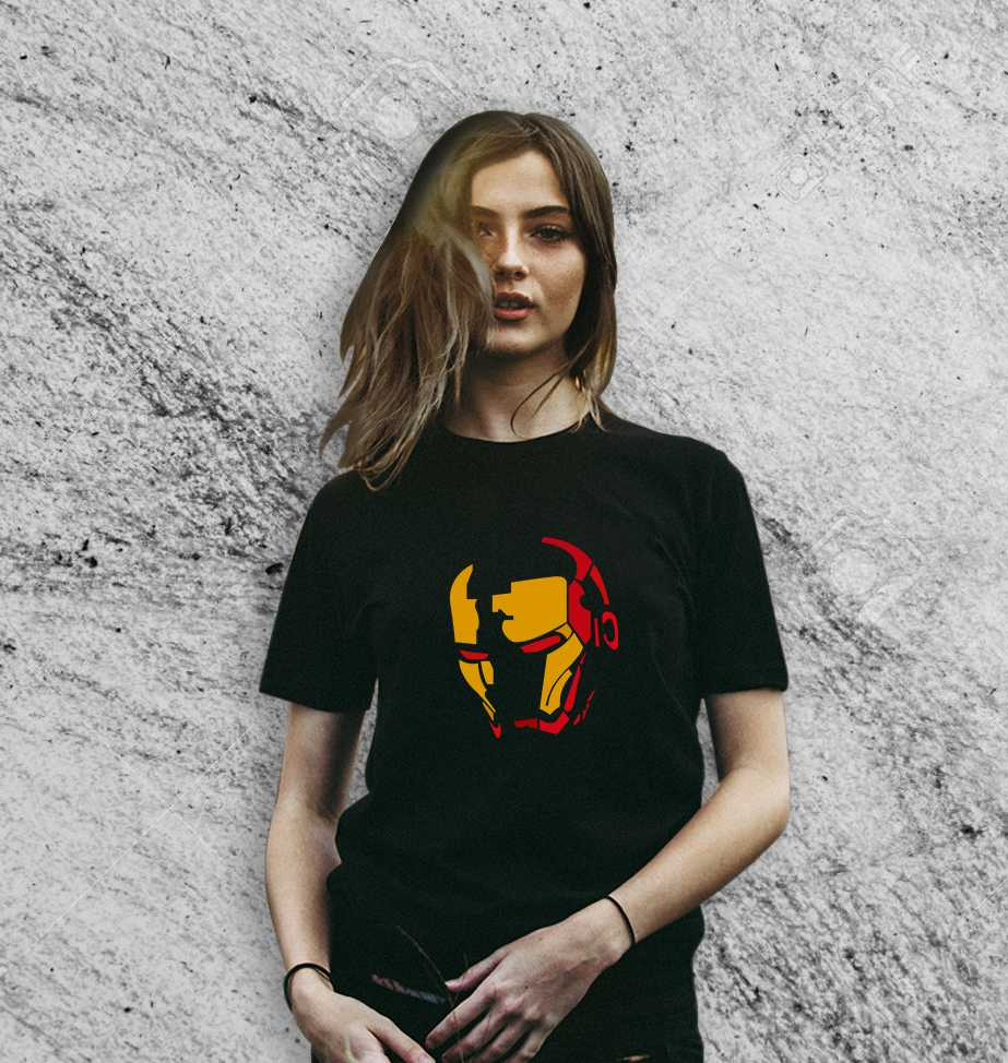 f272d7291f Buy iron mask of ironman on Black t shirt for Women at greetstore