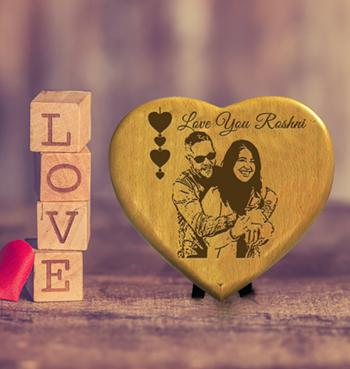 Heart Shaped Couple Photo with Text