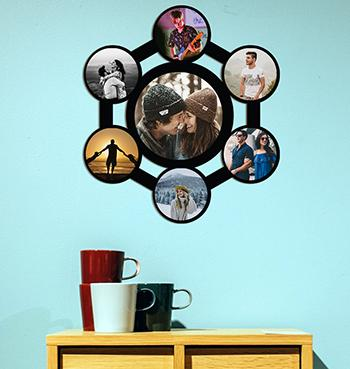 Personalizable multiphoto family collage photo frame