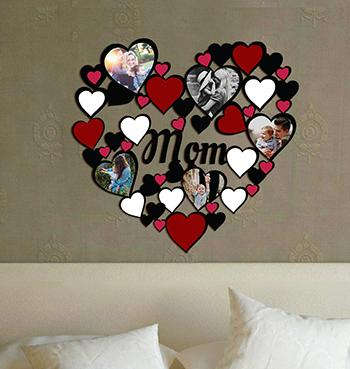 Personalized heart shaped collage photo frame at Greetstore