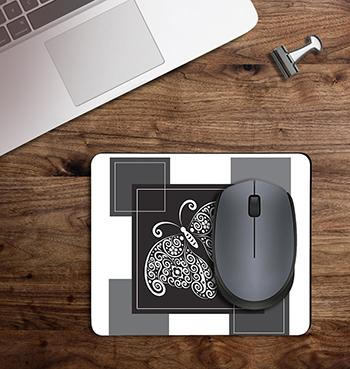 Black Butterfly abstract on customized mouse pad