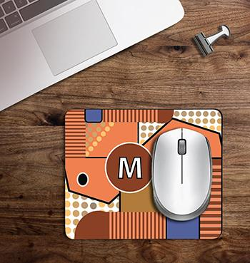 Random Box face abstract design on customized mouse pad