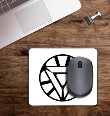 Triangular arc reactor of ironman printed on customized Mouse Pad
