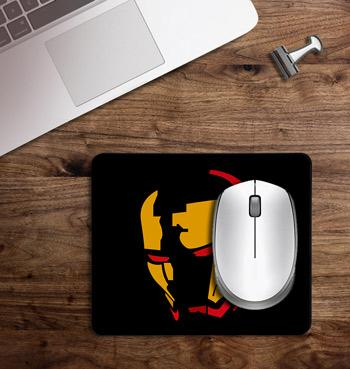 Ironman iron mask printed on customized Mouse Pad