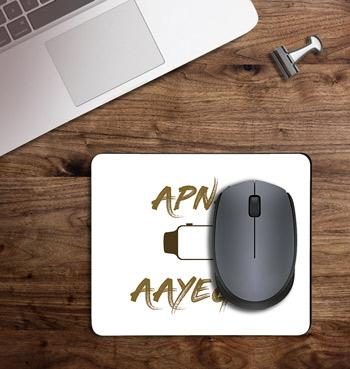 Stylish apna time ayega gully boy printed on customized Mouse Pad