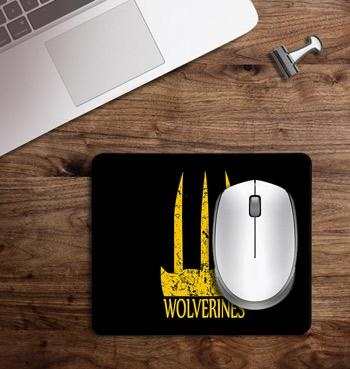 Wolverine claws printed on customized Mouse Pad