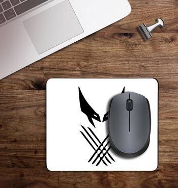 Wolverine claws & mask printed on customized Mouse Pad