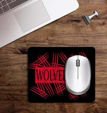 Wolverine claws attack printed on customized Mouse Pad