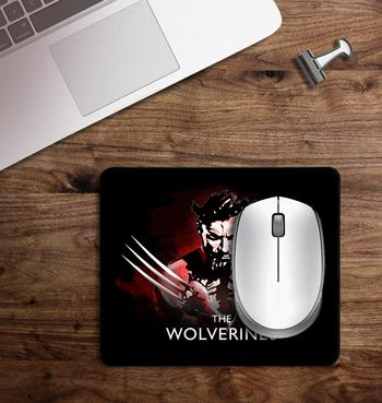 Wolverine symbol printed on customized Mouse Pad