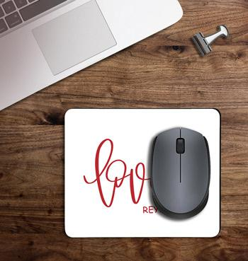 Loved font with your name printed on customized Mouse Pad
