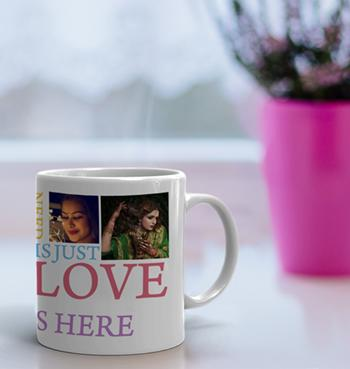 All You Need Is Just Love 5 Picture Collage White Coffee Mug