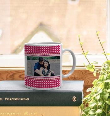 Valentine birthday gift with beautiful photo White Coffee Mug