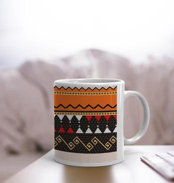 Vintage traditional pattern White Coffee Mug