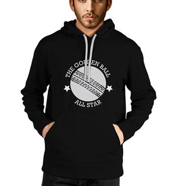 Cricket lover quotes with season ball on black hoodies for men